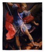The Archangel Michael Defeating Satan 1635 Fleece Blanket