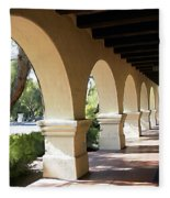 The Arches Mission Santa Ines Fleece Blanket