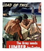 The Army Needs Lumber For Crates And Boxes Fleece Blanket