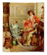 The Arrival Of D'artagnan Fleece Blanket