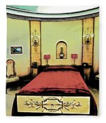 The Art Deco Bedroom Fleece Blanket