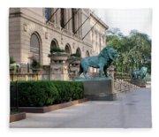 The Art Institute Of Chicago - 3 Fleece Blanket
