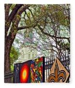 The Art Of Jackson Square Fleece Blanket