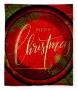 The Art Of Vhristmas Cheer Fleece Blanket