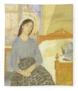 The Artist In Her Room In Paris Fleece Blanket
