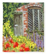 The Artist's Cottage Fleece Blanket