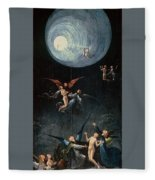 The Ascent Of The Blessed Hieronymus Bosch Fleece Blanket