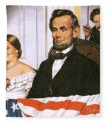The Assassination Of Abraham Lincoln Fleece Blanket