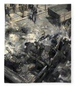 The Assassination Of Reinhard Heydrich Fleece Blanket