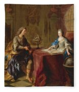 The Astronomy Lesson Of The Duchesse Du Maine Fleece Blanket