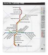 The Atlanta Pubway Map Fleece Blanket
