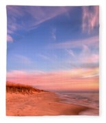 The Atlantic Coast At Sunrise Fleece Blanket