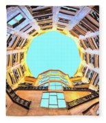 The Atrium At Casa Mila Fleece Blanket