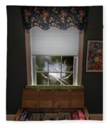 The Attic Window Fleece Blanket