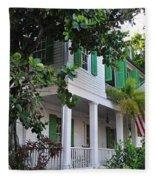 The Audubon House - Key West Florida Fleece Blanket