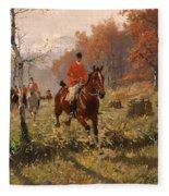 The Autumn Hunt Fleece Blanket