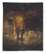 The Autumn Of Our Life Fleece Blanket