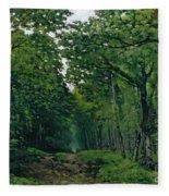 The Avenue Of Chestnut Trees Fleece Blanket
