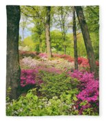 The Azalea Woodland Fleece Blanket