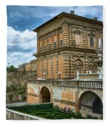 The Back Of The Pitti Palace In Florence Fleece Blanket
