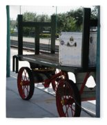 The Baggage Cart And Truck Fleece Blanket