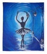 The Ballerina Dance Fleece Blanket