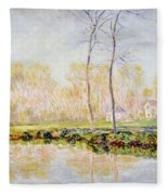The Banks Of The River Epte At Giverny Fleece Blanket