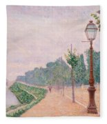 The Banks Of The Seine At Neuilly 1886 Fleece Blanket