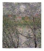 The Banks Of The Seine Fleece Blanket