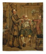 The Barber Fleece Blanket