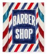 The Barber Shop Fleece Blanket