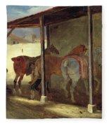 The Barn Of Marechal-ferrant Fleece Blanket