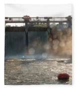 The Barton Lake Dam Fleece Blanket