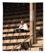 The Baseball Fan Sepia Fleece Blanket