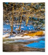 The Basin At Franconia Notch Fleece Blanket