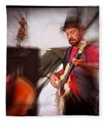 The Bass Player Fleece Blanket