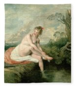 The Bath Of Diana Fleece Blanket