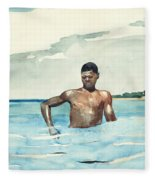 The Bather, 1899 Fleece Blanket