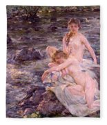 The Bathers Fleece Blanket