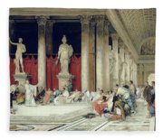 The Baths Of Caracalla Fleece Blanket