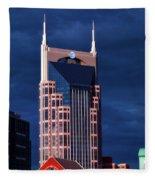 The Batman Building - Nashville Fleece Blanket