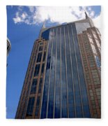 The Batman Building Nashville Tn Fleece Blanket