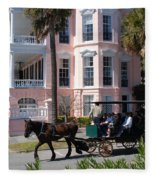 The Battery In Charleston Fleece Blanket