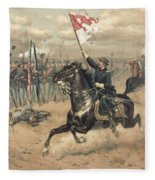 The Battle Of Cedar Creek Virginia Fleece Blanket