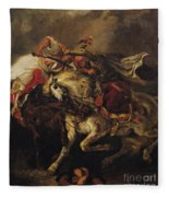 The Battle Of Giaour And Hassan Fleece Blanket