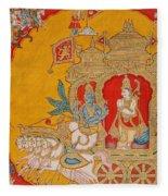 The Battle Of Kurukshetra Fleece Blanket