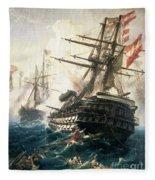 The Battle Of Lissa Fleece Blanket