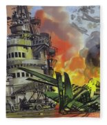 The Battle Of Midway Fleece Blanket