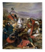 The Battle Of Poitiers Fleece Blanket