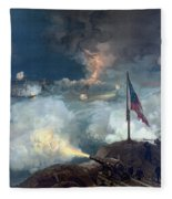 The Battle Of Port Hudson - Civil War Fleece Blanket